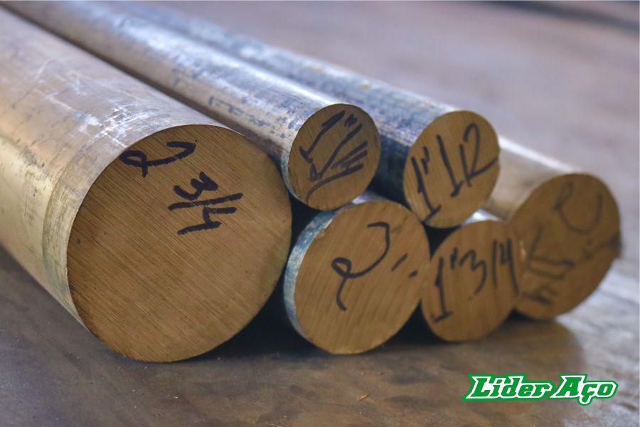 Líder Aço Produtos Siderúrgicos Dourados-MS - Barra redonda bronze TM 23