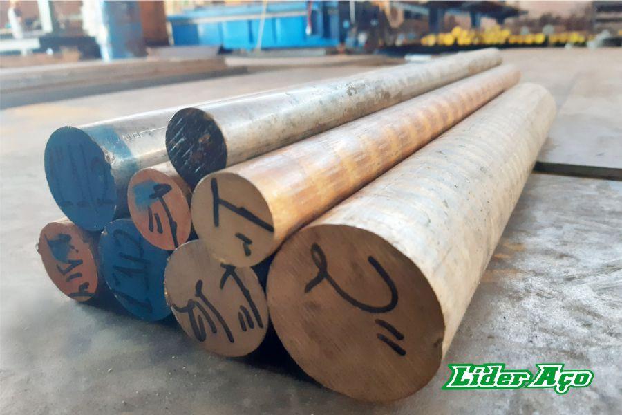 Líder Aço Produtos Siderúrgicos Dourados-MS - Barra redonda bronze TM 620