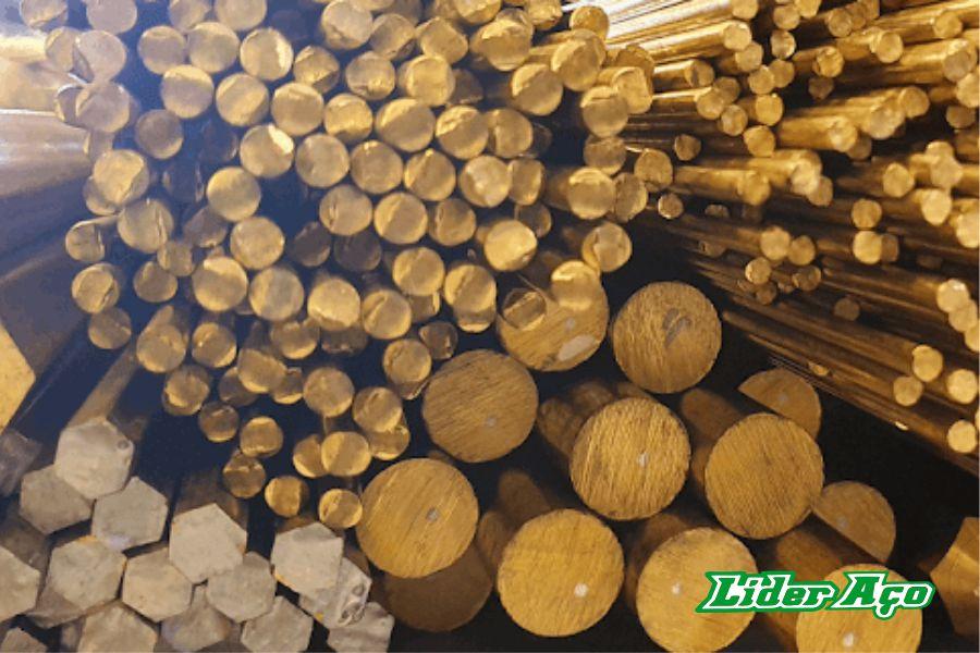 Líder Aço Produtos Siderúrgicos Dourados-MS - Barras em latão