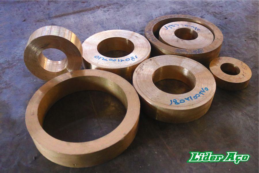 Líder Aço Produtos Siderúrgicos Dourados-MS - Buchas Bronze SAE 65
