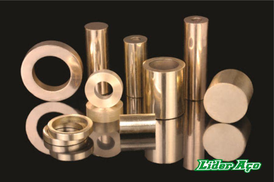 Líder Aço Produtos Siderúrgicos Dourados-MS - Buchas e barras Bronze SAE 65
