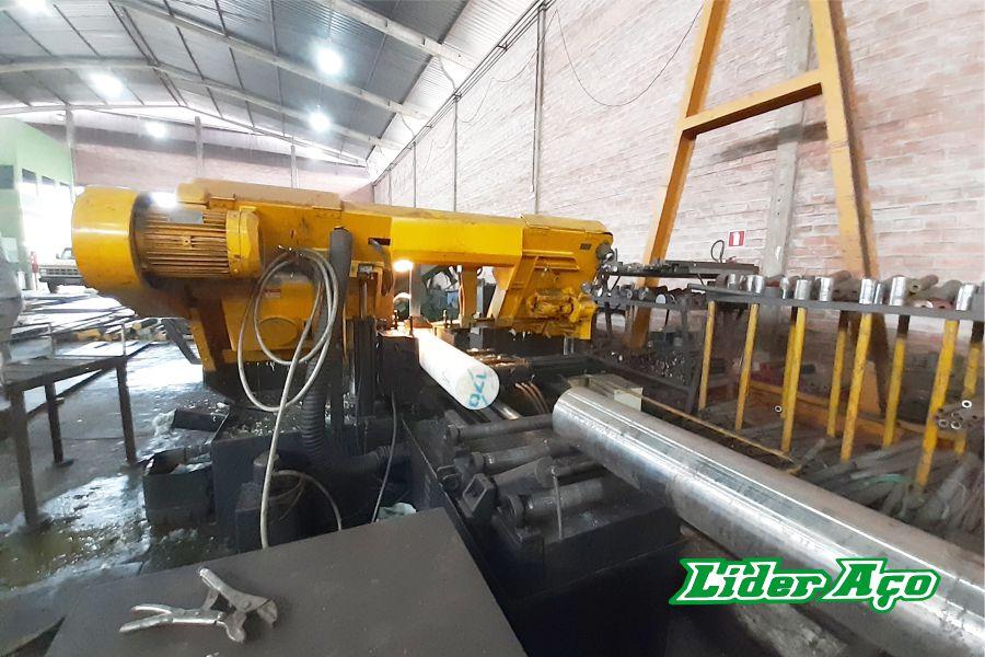 Líder Aço Produtos Siderúrgicos Dourados-MS - Serviço de corte serra fita metais e plástico industrial
